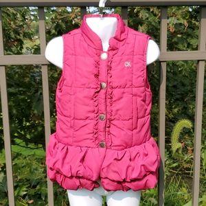 Childs Calvin Klein Jeans Pink Puffer Vest Size 5